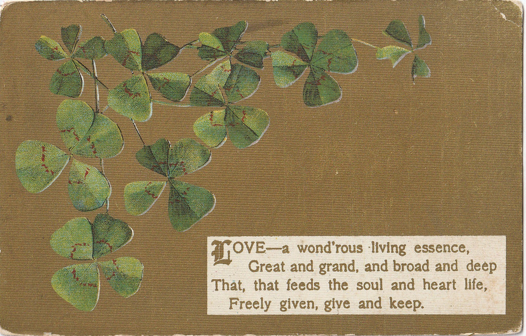 Love Wondrous Living Essence - Postcard, c. 1900s