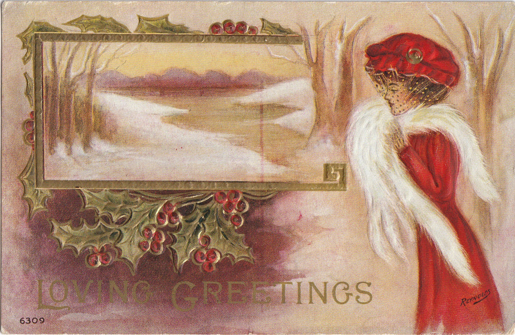 Loving Greetings Reynolds Postcard