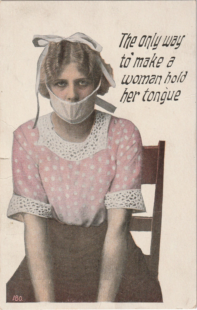 Only Way to Make A Woman Hold Her Tongue Postcard