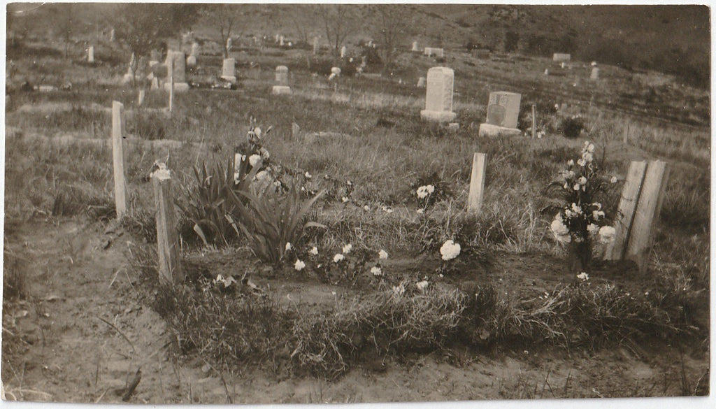 Mamma + Daddie's Graves - Decoration Day Cemetery - Snapshot, c. 1920s
