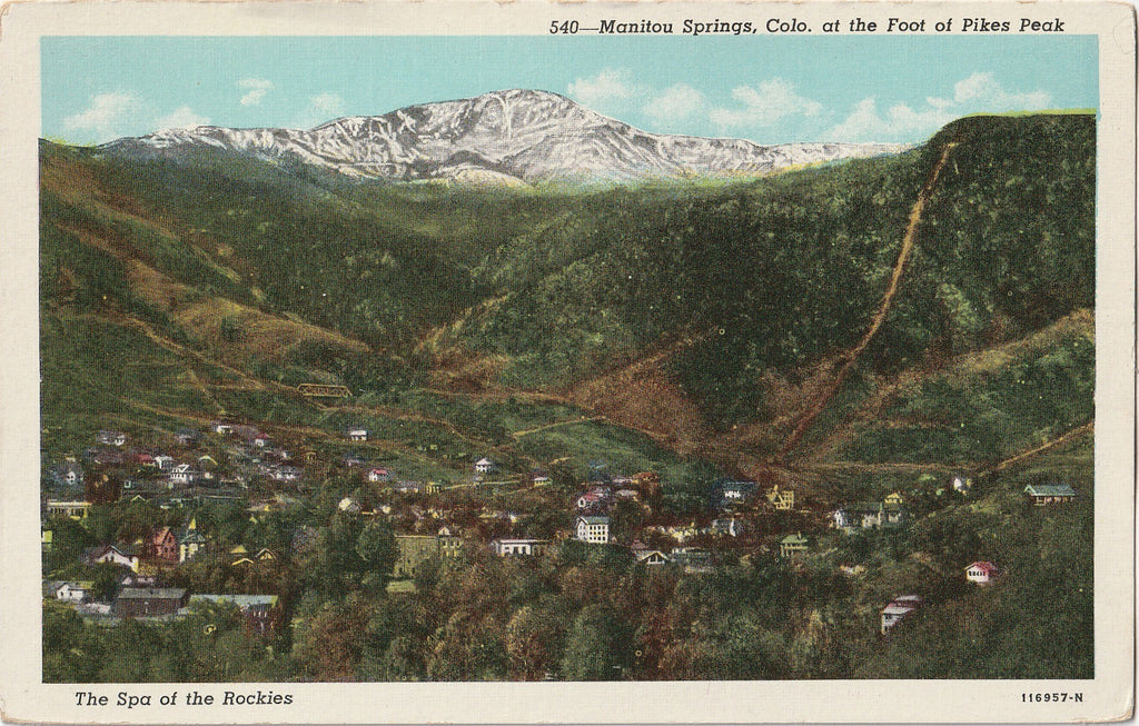 Manitou Springs, Colorado Spa of the Rockies Postcard