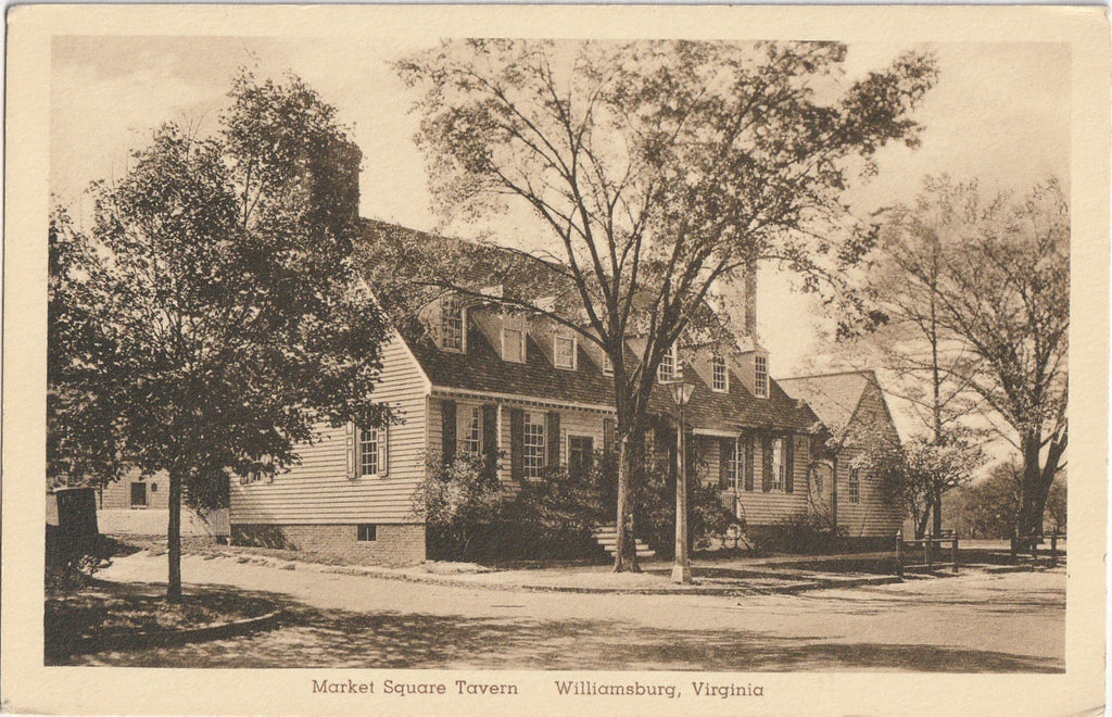 Market Square Tavern Williamsburg Virginia Postcard