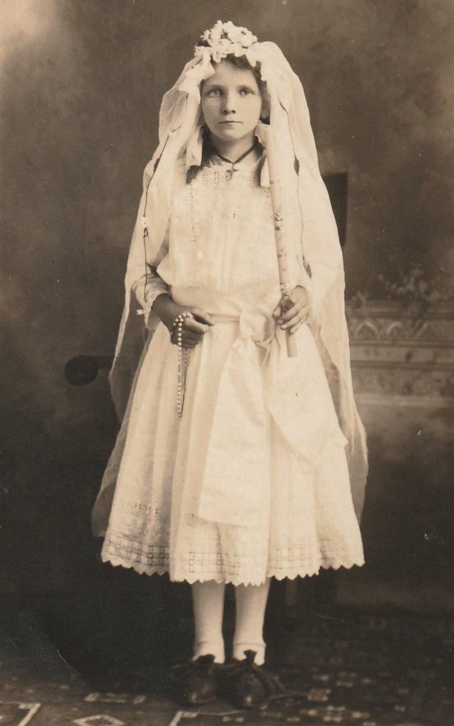Mary Dasedel Holy Communion RPPC Close Up