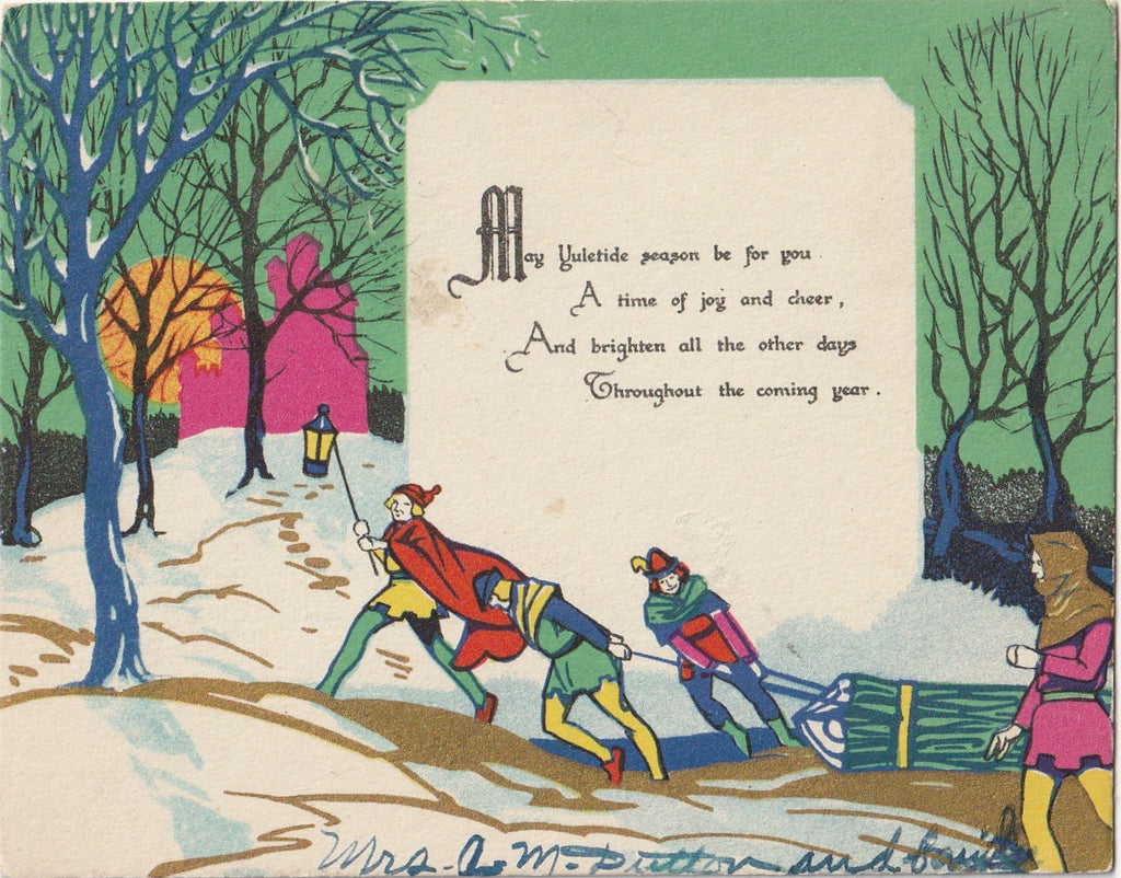 May Yuletide Season Be For You A Time Of Joy and Cheer - Card, c. 1930s
