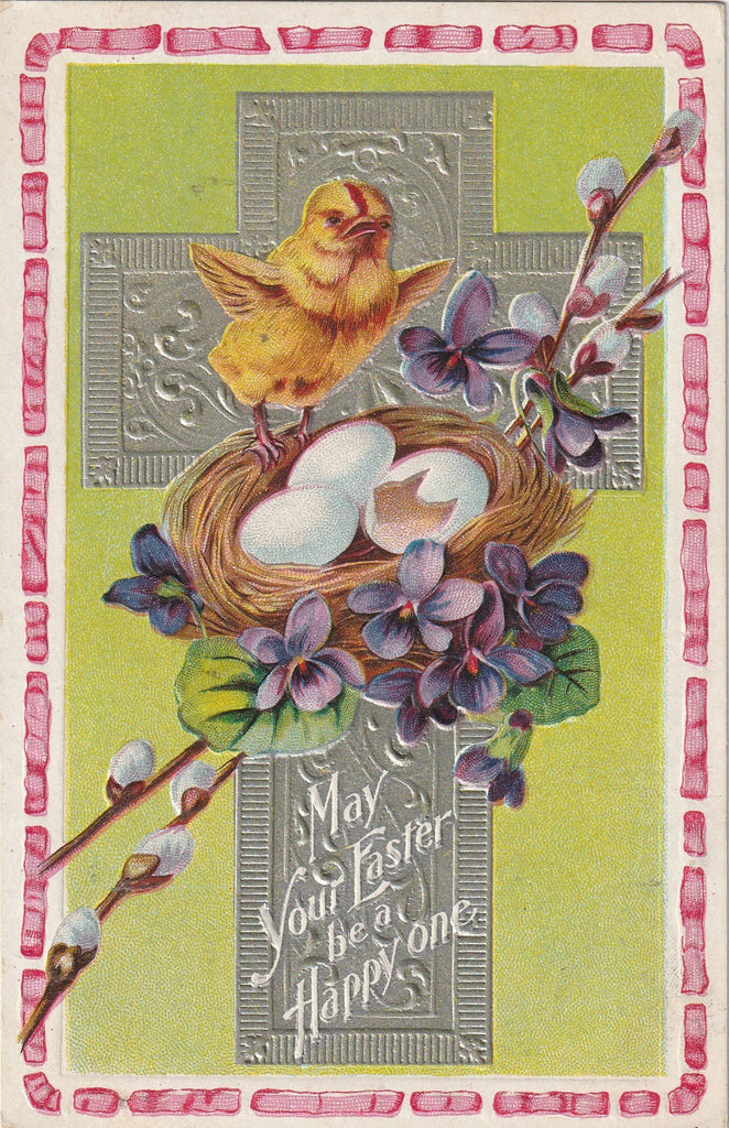 May Your Easter Be A Happy One Antique Postcard