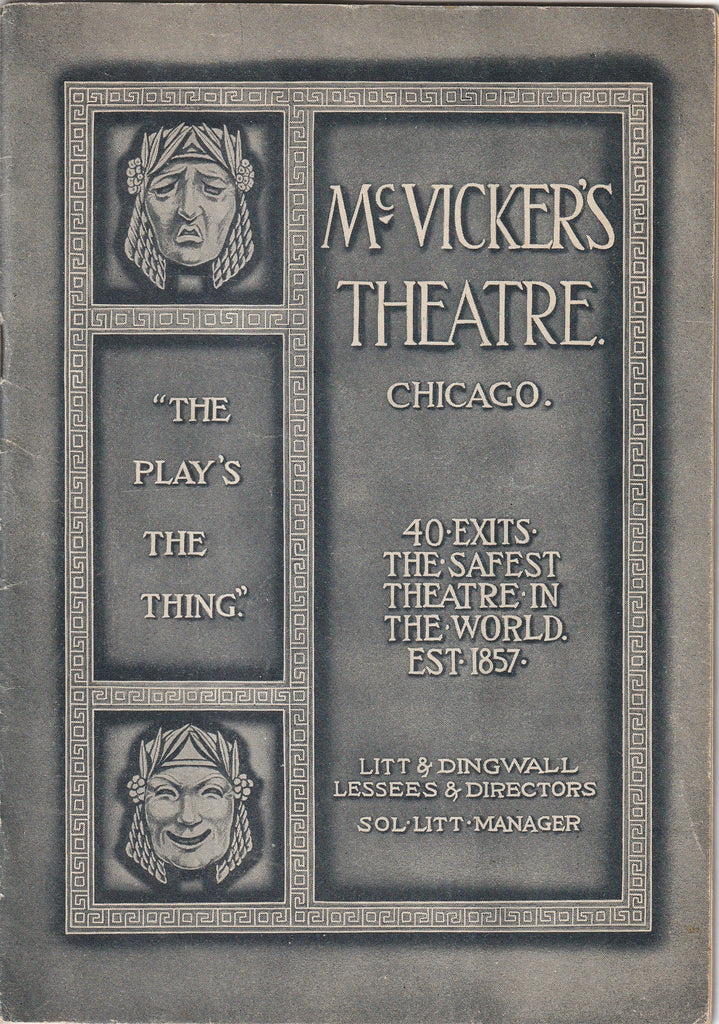 The Play's The Thing - McVicker's Theatre, Chicago - Booklet, c. 1910s
