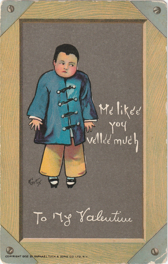 Me Likee You Vellee Much E. Curtis Antique Postcard