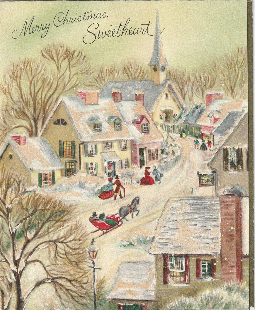 Merry Christmas Sweetheart - Hallmark Card, c. 1950s