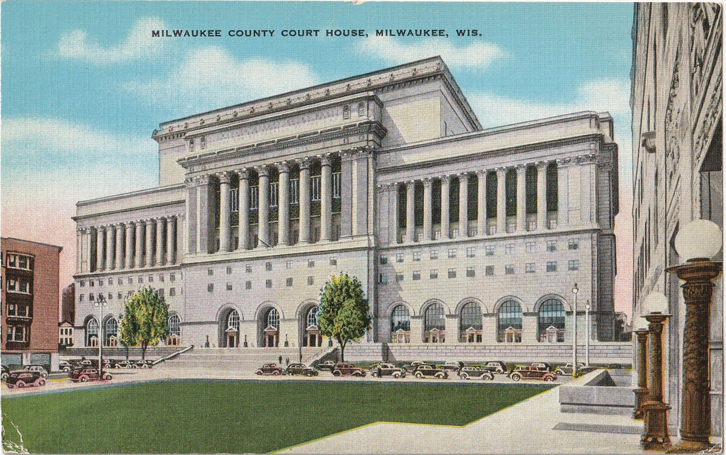 Milwaukee County Court House Postcard