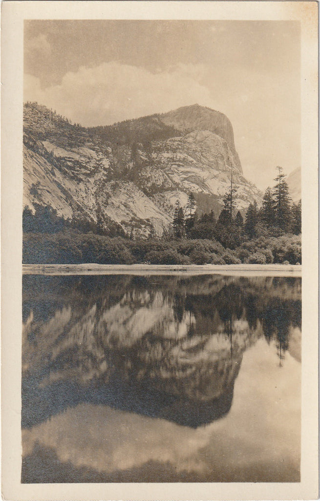 Mirror Lake -Yosemite National Park, California - RPPC, c. 1900s