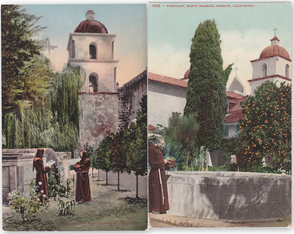 Santa Barbara Mission California Postcards