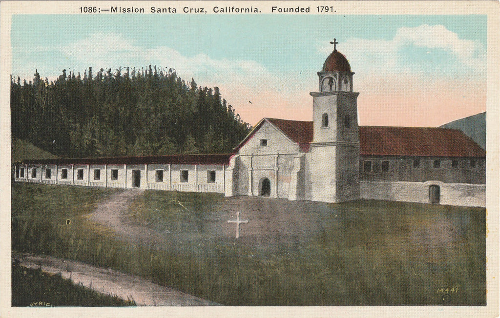 Mission Santa Cruz California Postcard