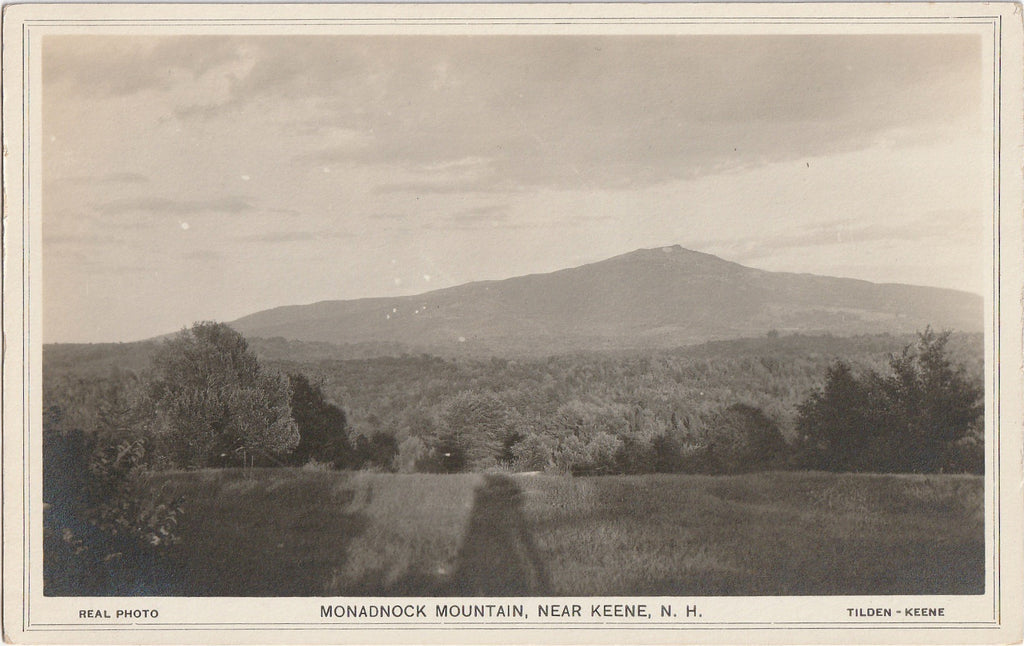 Monadnock Mountain - Near Keene, New Hampshire - RPPC, c. 1910s