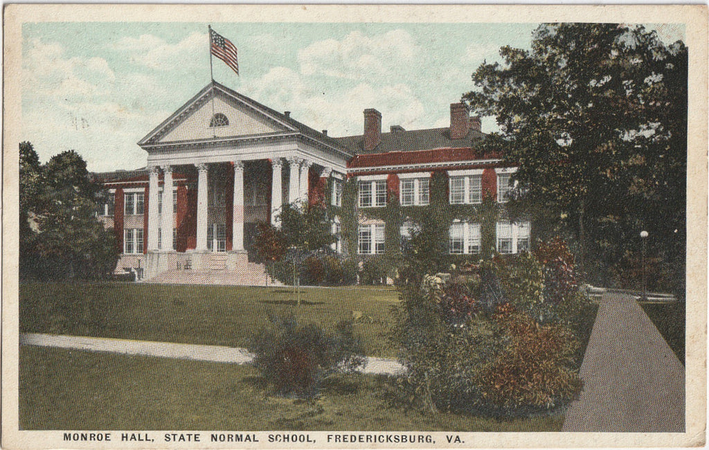 Monroe Hall State Normal School Fredericksburg VA Postcard