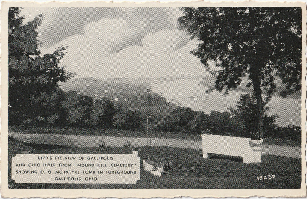Mound Hill Cemetery - O. O. Mc Intyre Tomb - Gallipolis, Ohio - Postcard, c. 1950s