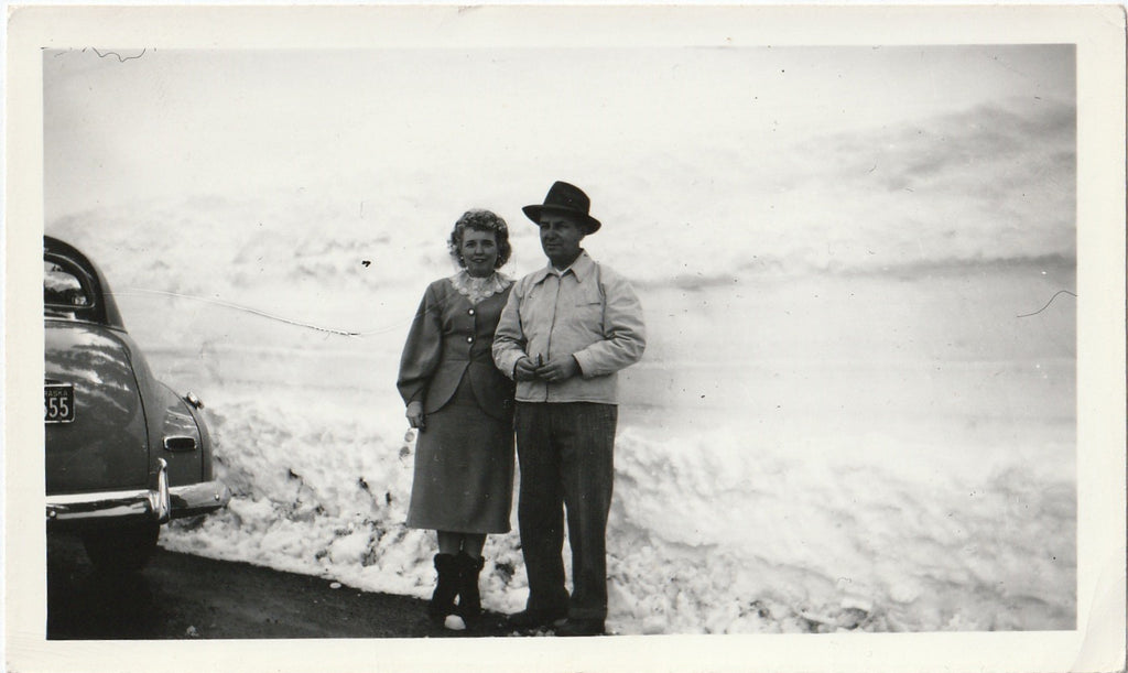 Mountain Snowdrift Vintage Photograph