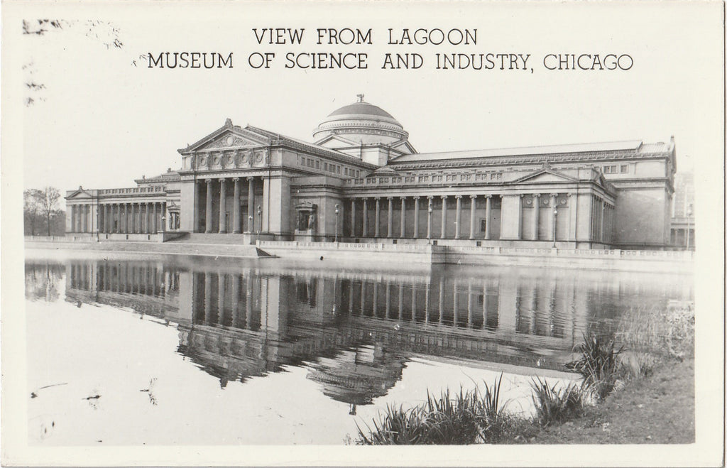 Museum of Science and Industry Lagoon Chicago RPPC