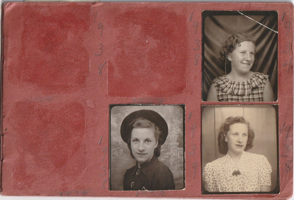 My Snapshots 1939 - 1944 Photo Booth Portraits Album Page 1