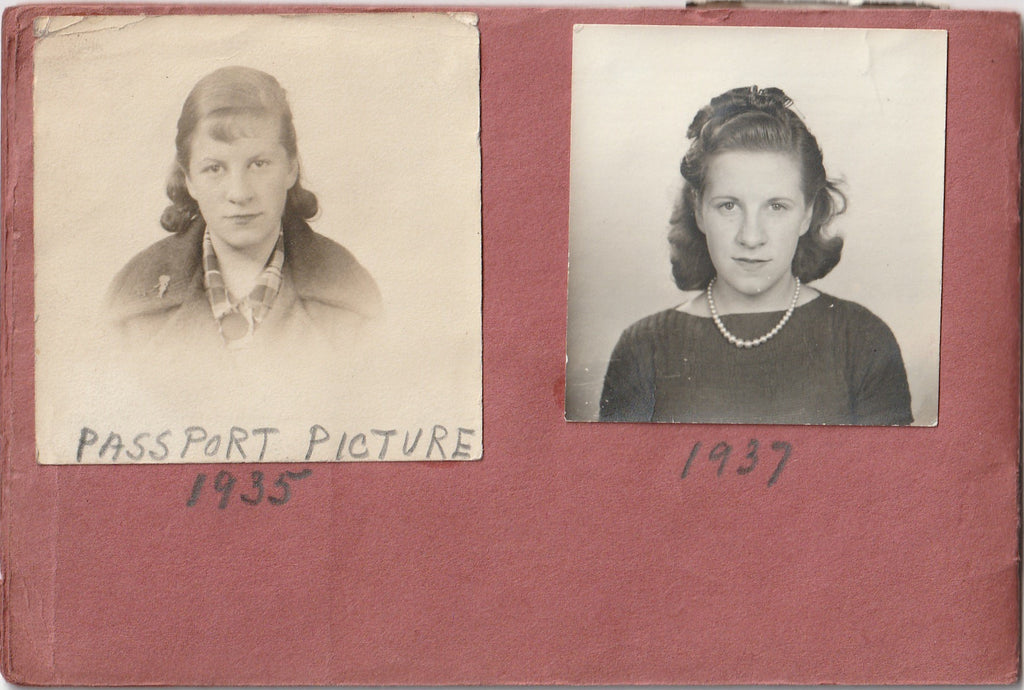 My Snapshots 1939 - 1944 Photo Booth Portraits Album Page 2