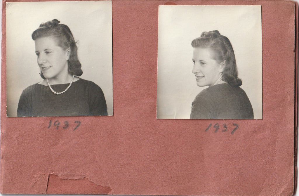 My Snapshots 1939 - 1944 Photo Booth Portraits Album Page 3