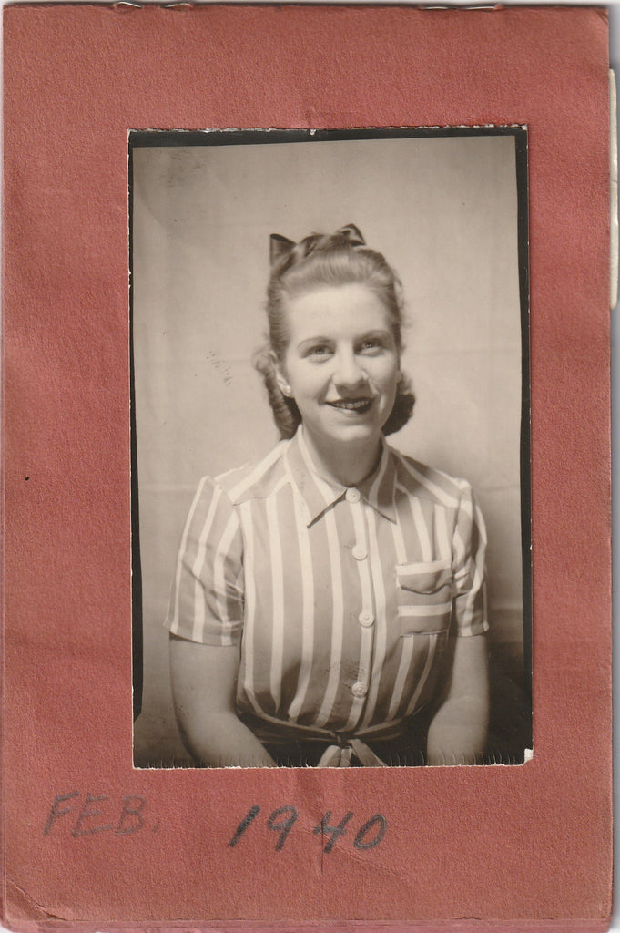 My Snapshots 1939 - 1944 Photo Booth Portraits Album Page 5