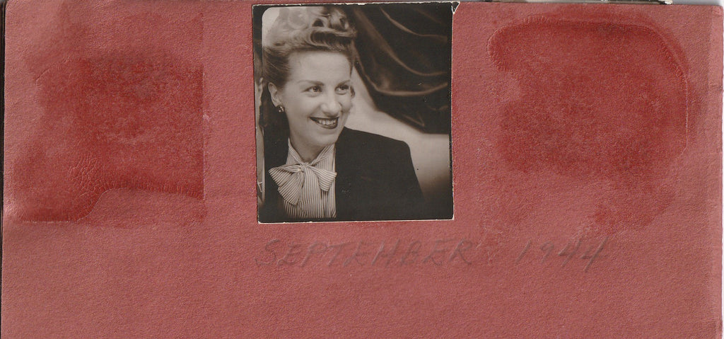 My Snapshots 1939 - 1944 Photo Booth Portraits Album Page 7