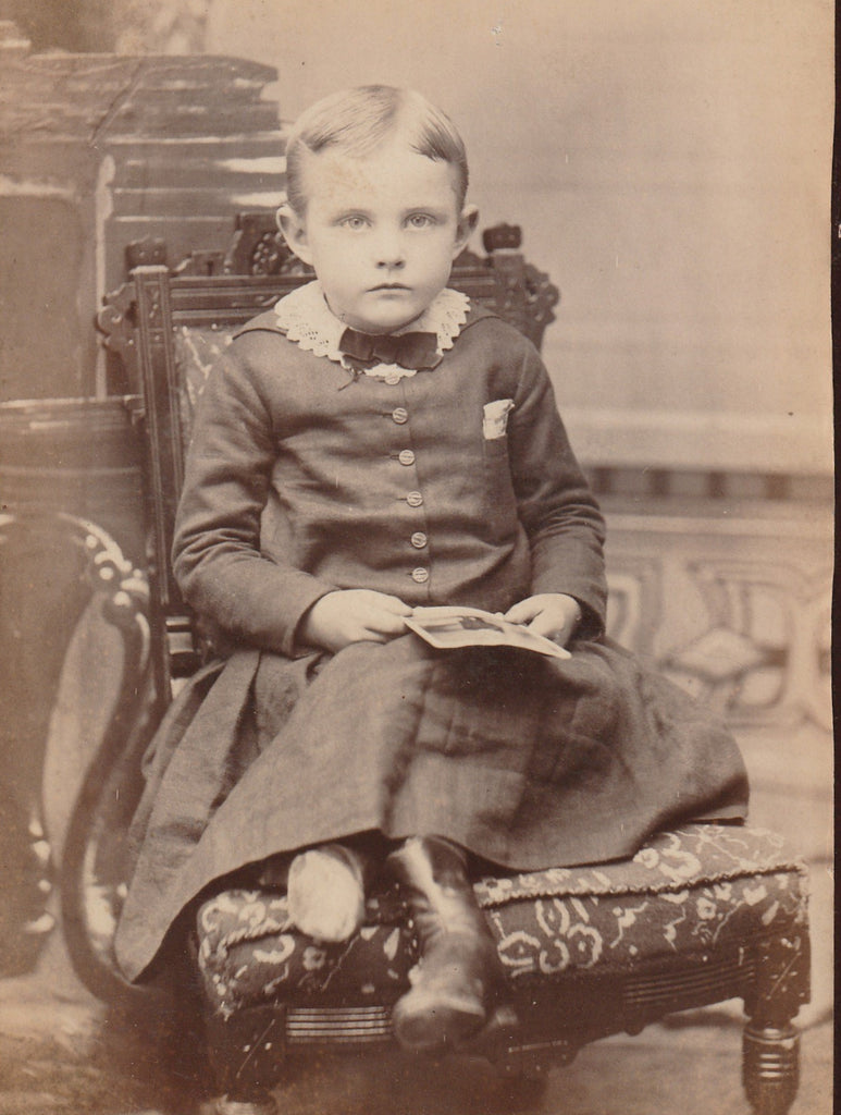Victorian Boy Mt Clemens Michigan Cabinet Photo Close Up