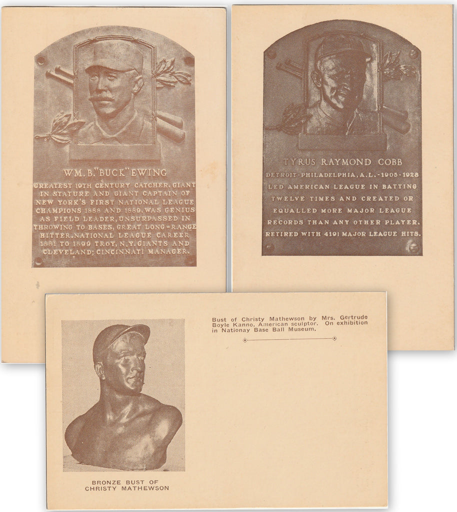National Base Ball Hall of Fame Cooperstown NY Postcard SET