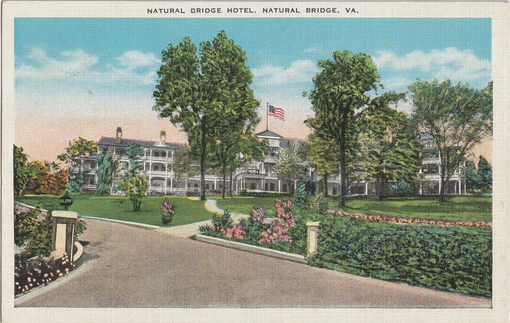 Natural Bridge Hotel Natural Bridge Virginia Postcard