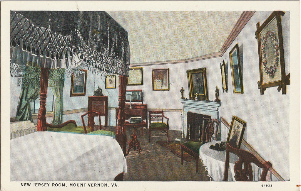 New Jersey Room Mount Vernon Virginia Postcard