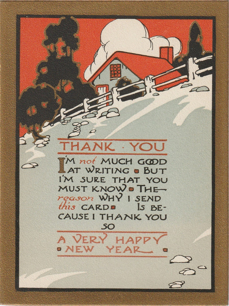 New Year Thank You Card 1