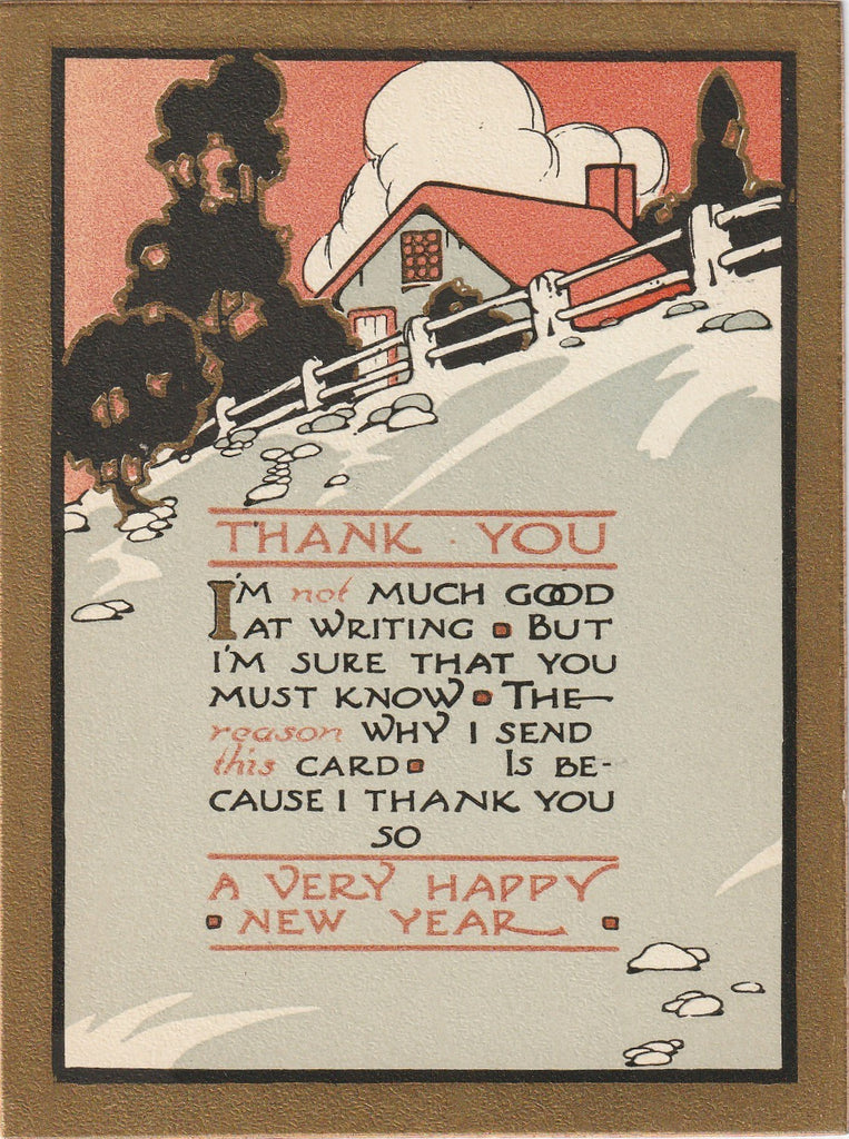 New Year Thank You Card 2