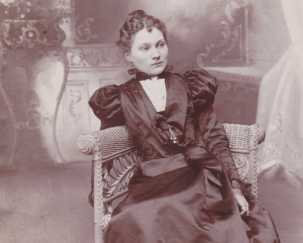 Beautiful Victorian Woman Corning NY Close Up 3