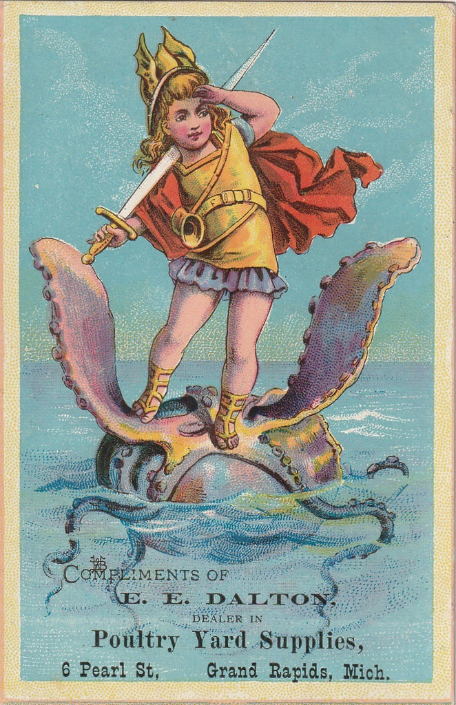 Sea Monster Trade Card Grand Rapids MI