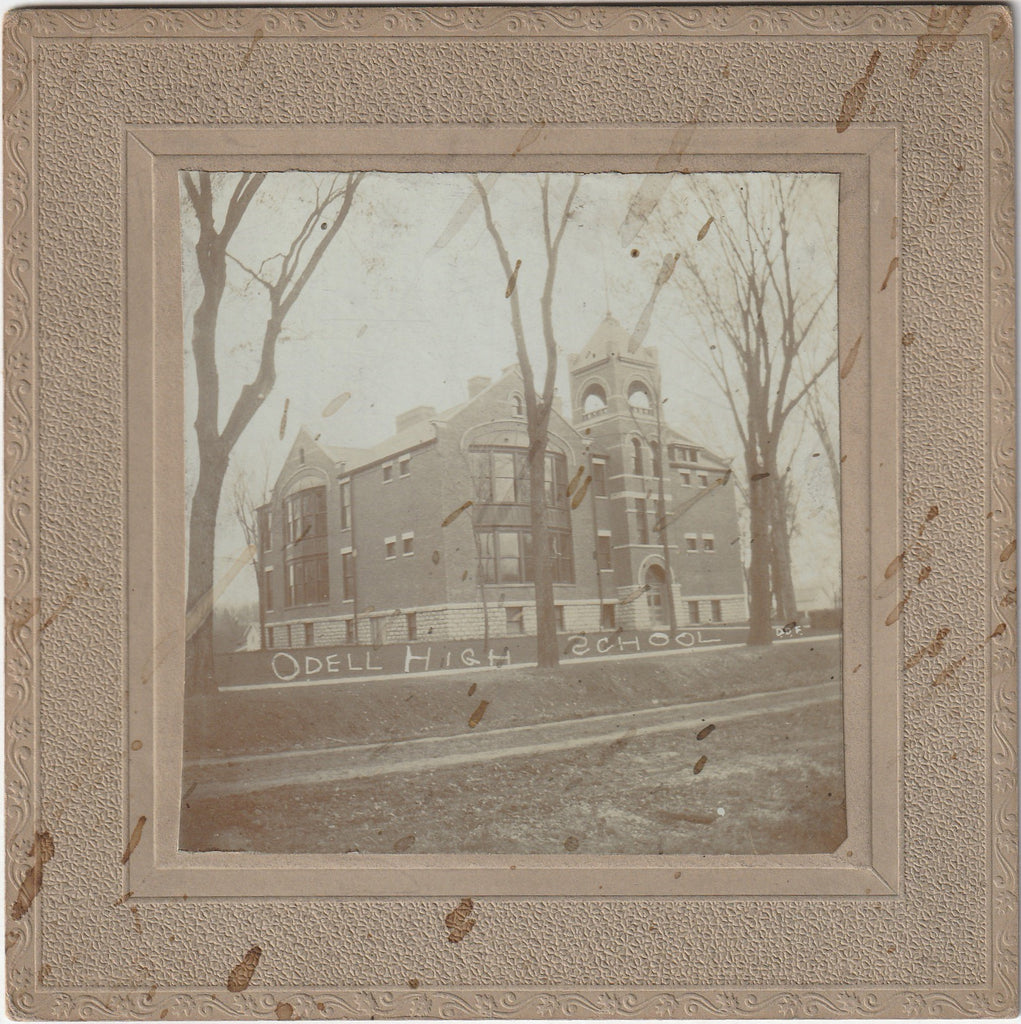 Odell High School Odell Illinois Cabinet Photograph