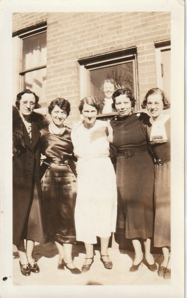 Office Ladies Photo Bomber Vintage Snapshot