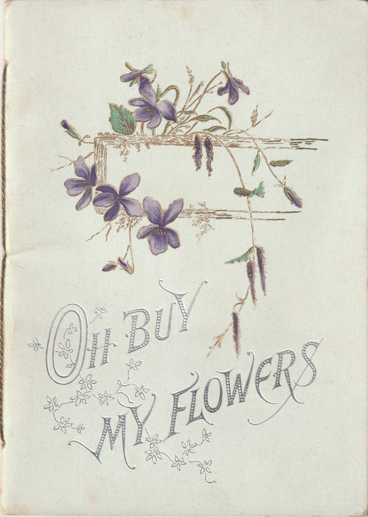 Oh Buy My Flowers Edward Oxenford Raphael Tuck Antique Booklet Card
