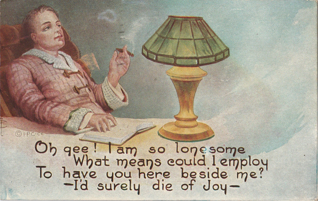 Oh Gee I'd Die of Joy Frederick L Cavally Postcard