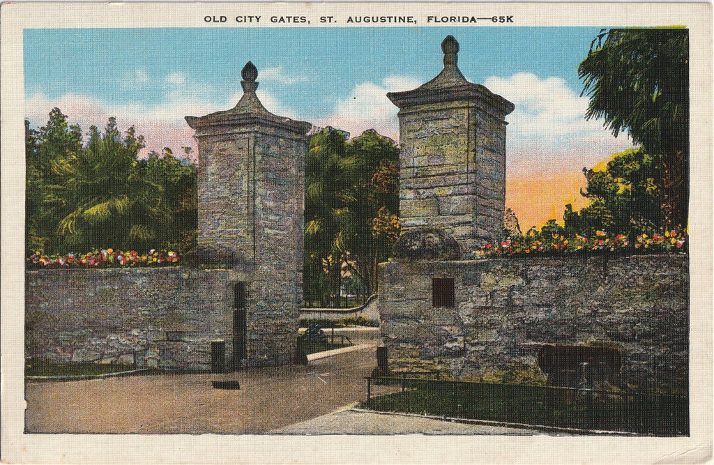 Old City Gates St. Augustine, Florida Postcard