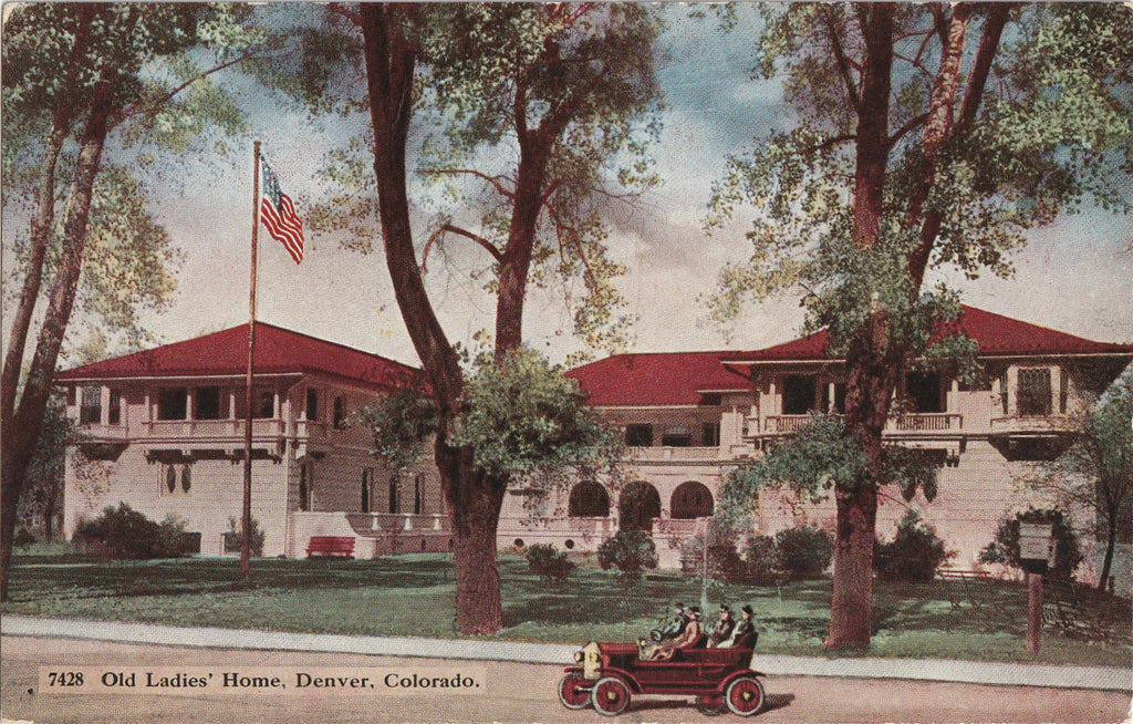 Old Ladies' Home The Argyle Denver Colorado Postcard