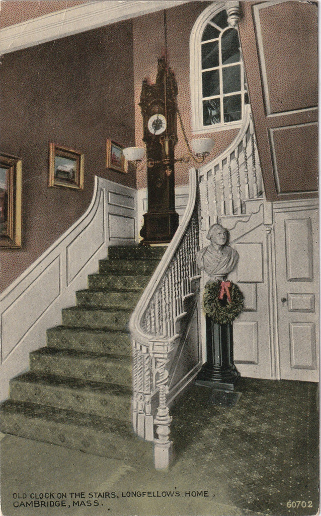 Old Clock On The Stairs Longfellow Postcard
