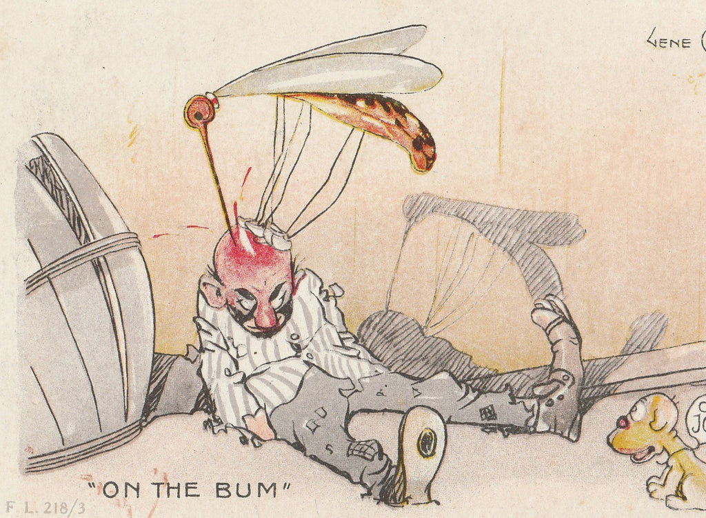 On The Bum Mosquito Gene Carr Postcard Close Up