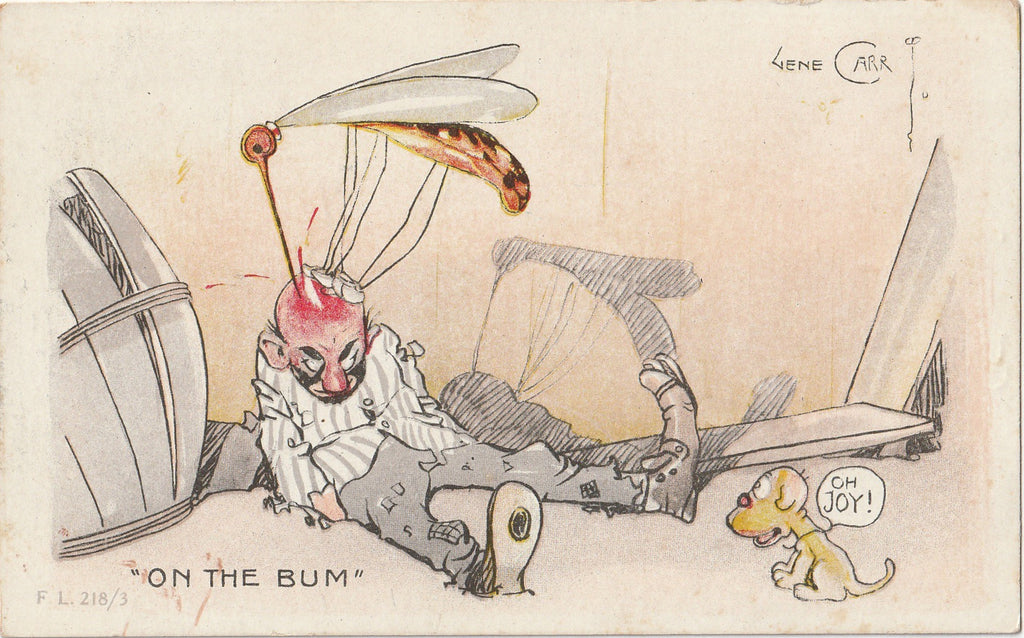 On The Bum Mosquito Gene Carr Postcard