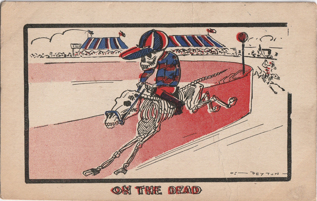 On The Dead Horse Deyton Antique Postcard