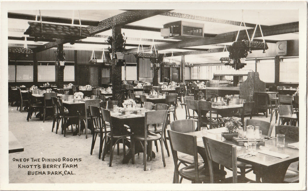 One of the Dining Rooms - Knott's Berry Farm - Buena Park, CA - RPPC, c. 1940s