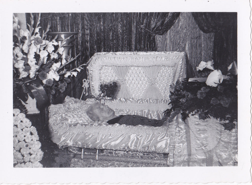 Open Casket Funeral Post Mortem Woman