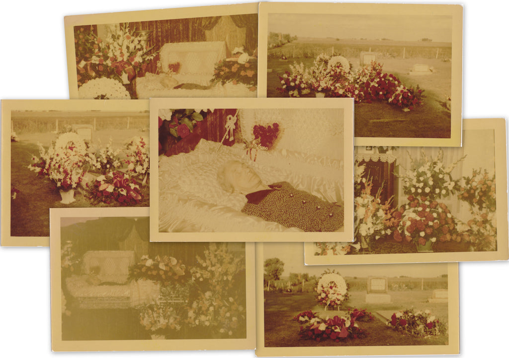 Open Casket Funeral Color Photo Set