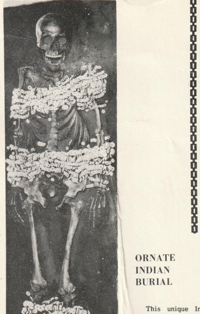 Ornate Indian Burial Aztalan Vintage Postcard Close Up
