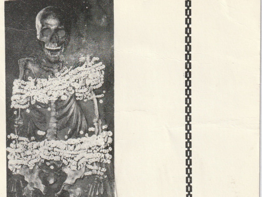 Ornate Indian Burial Aztalan Vintage Postcard Close Up 2