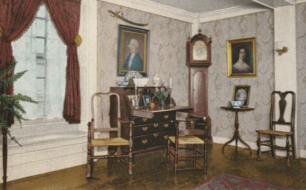 Parlor House of Seven Gables Salem MA Postcard Close Up